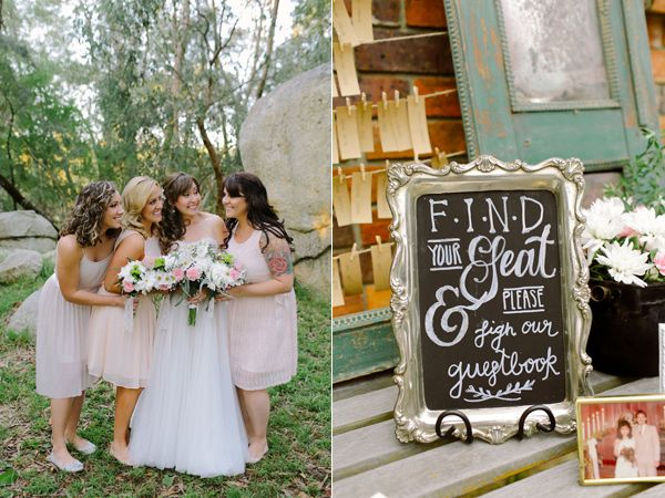 bride and bridesmaids - photo by Bluespark Photography http://ruffledblog.com/australian-wedding-for-two-world-travelers