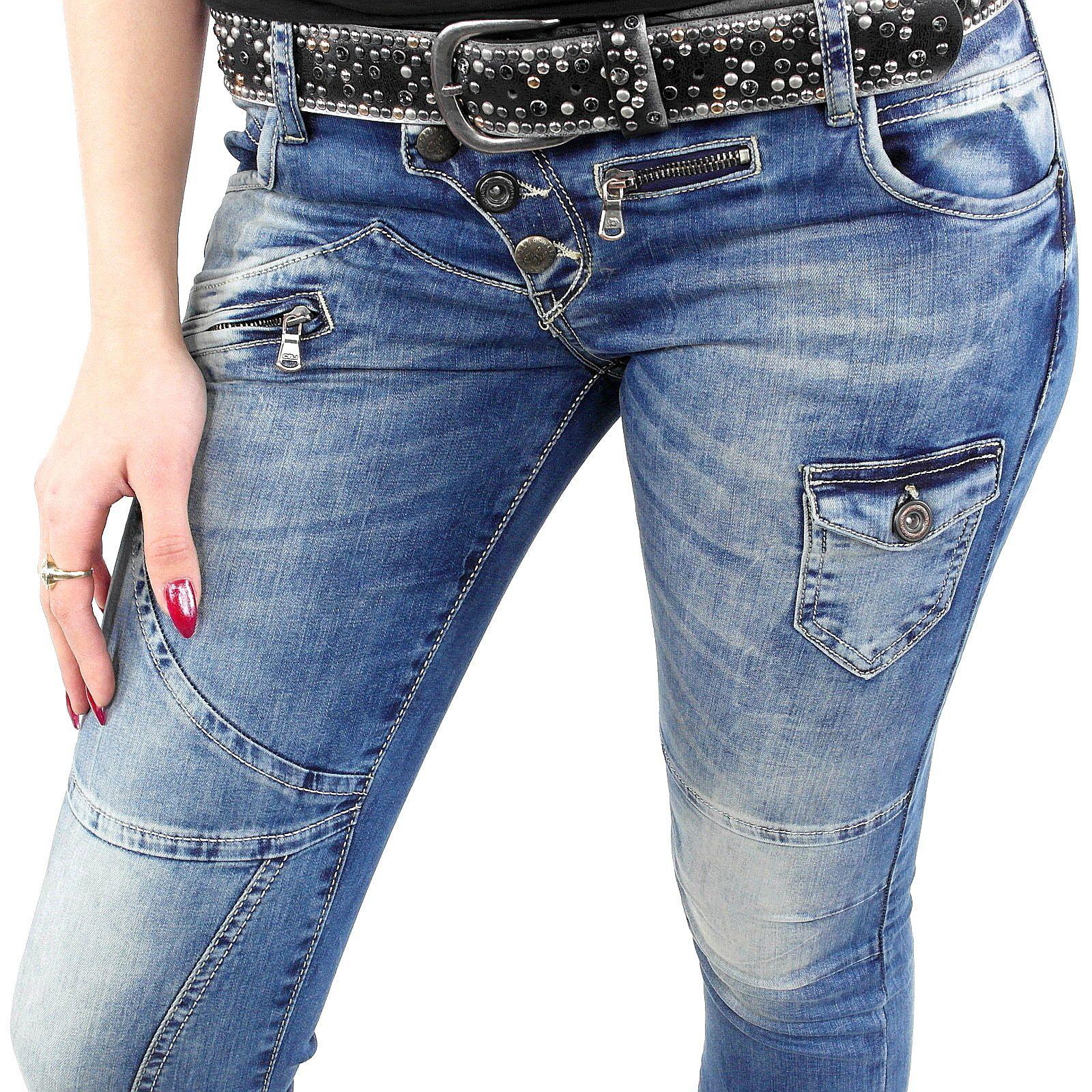Stylefabrik Fashion Jeans mit stylischen Verzierungen