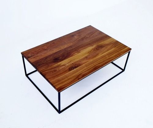 The Ohlin Coffee Table Is Handcrafted In Our Montreal Workshop Out Of Steel And Solid Wood Its Minimalist And Classic Des Coffee Table Table Coffee Table Wood