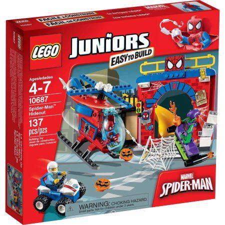 Lego Juniors Spider-Man Hideout, 10687, Multicolor Lego juniors