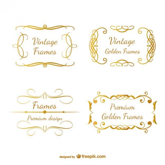 Marcos dorados fotos y vectores gratis marcos - Marcos dorados para cuadros ...