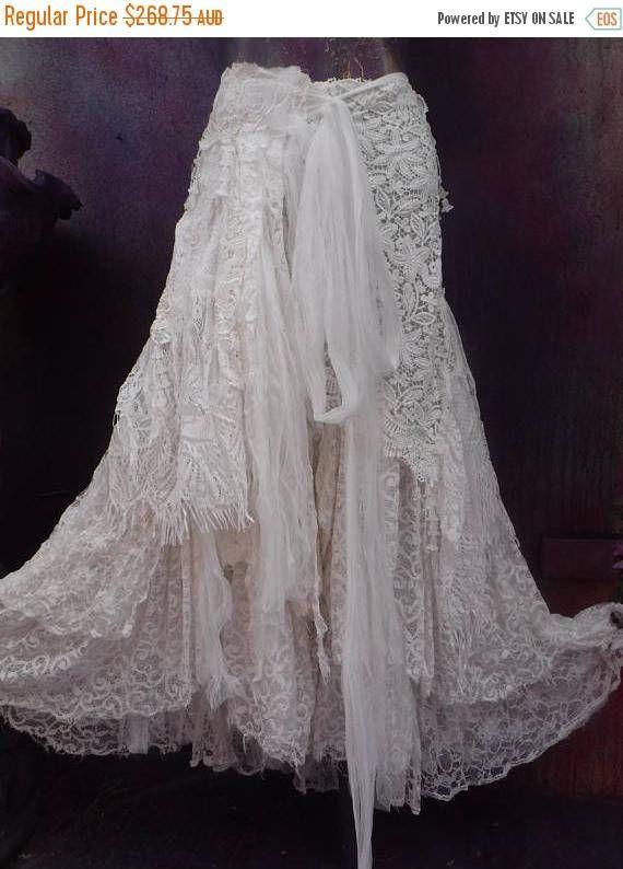 20% korting op bruiloft bruids gescheurde rok formeel