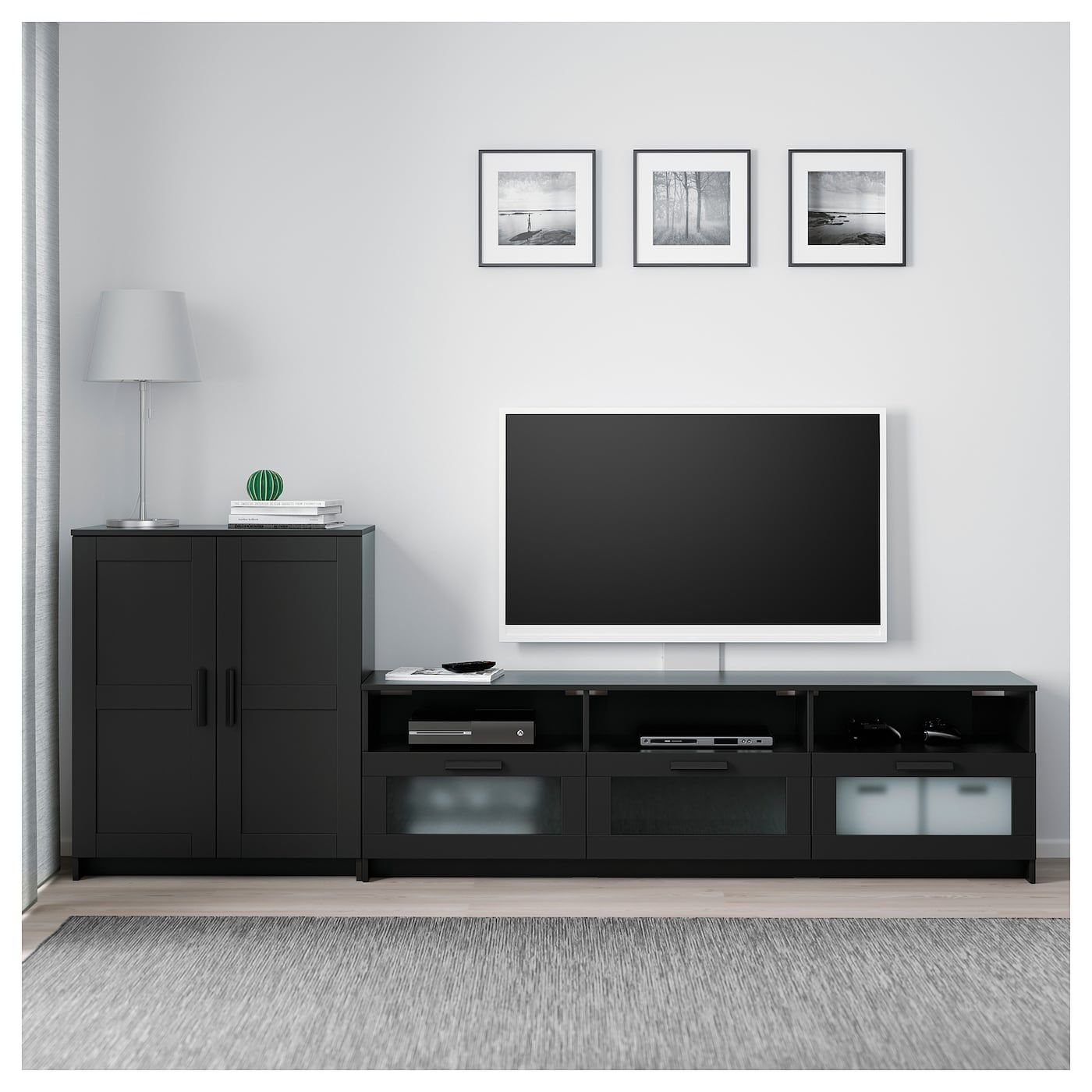 Brimnes Tv Storage Combination Black 101 5 8x16 1 8x37 3 8