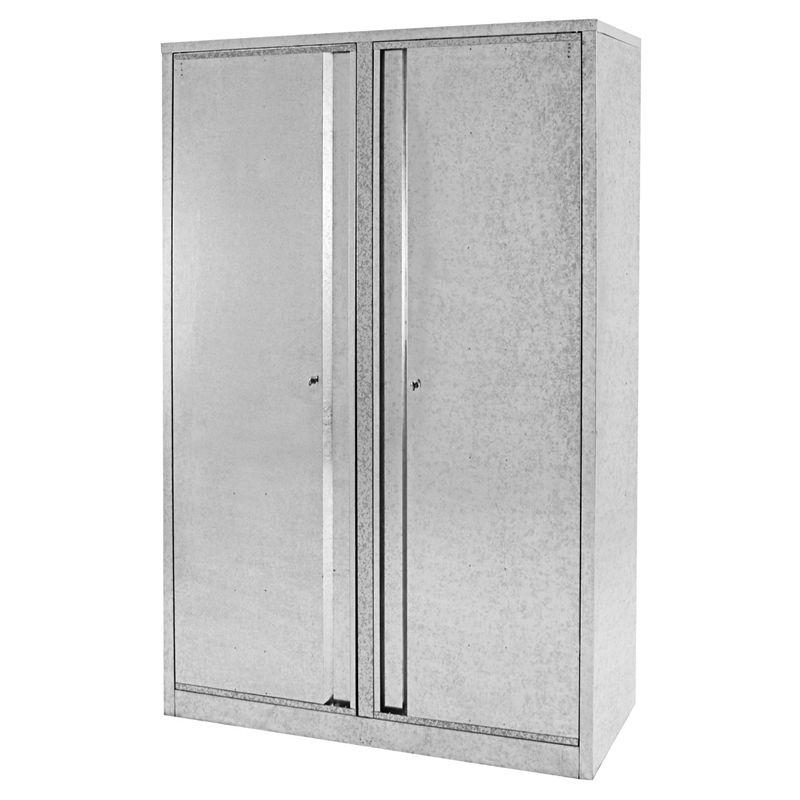 Pinnacle Galvanised 2 Door Lockable Cabinet Bunnings Warehouse Lockable Cabinets Wooden Shoe Racks Locker Storage