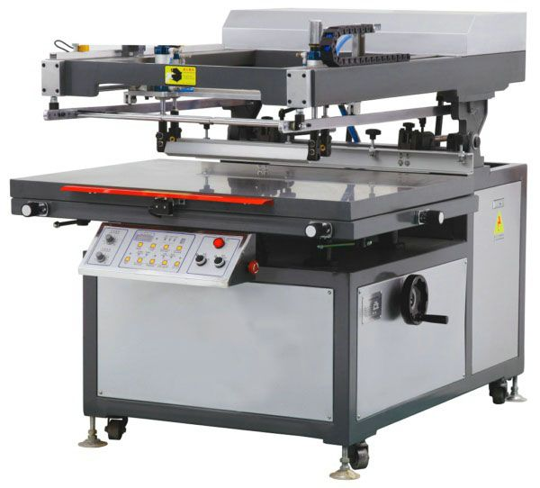 screen printer with led uv curing system - YouTube