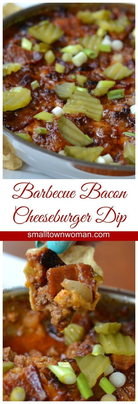 Barbecue Bacon Cheeseburger Dip   Small Town Woman