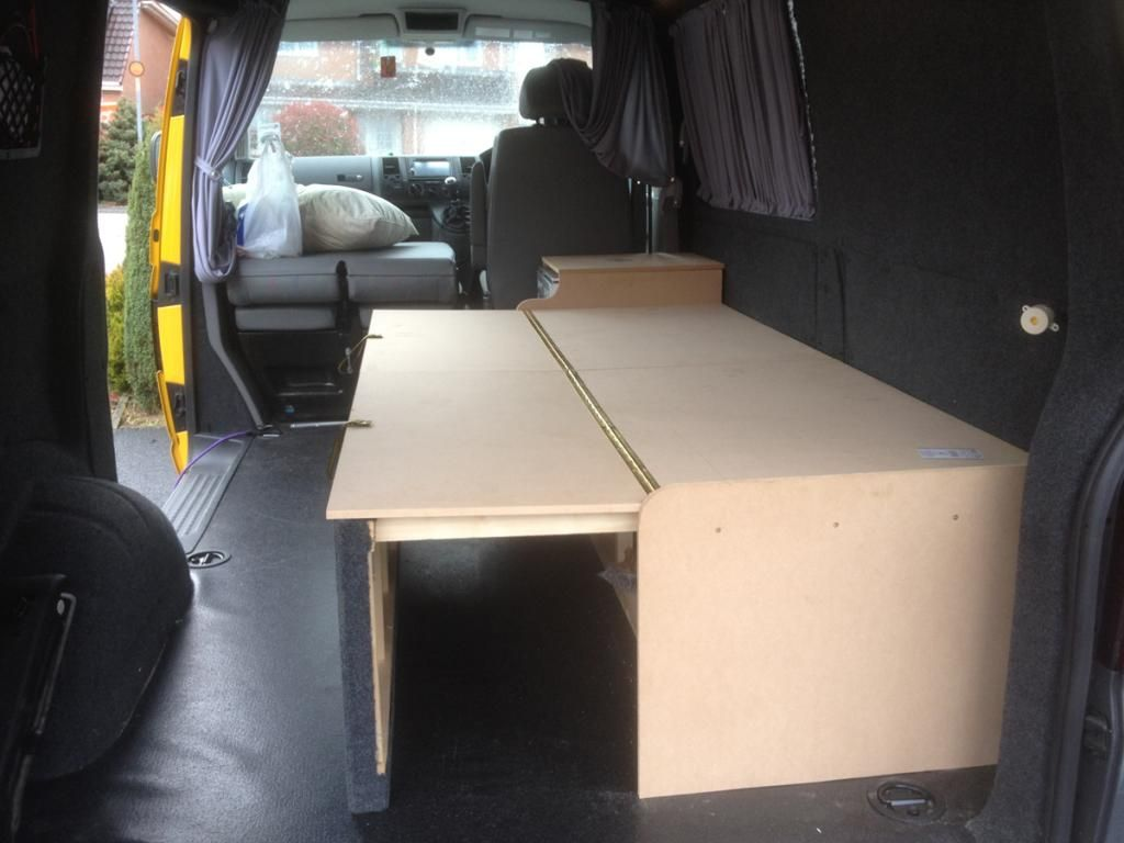 show us your custom made bed layouts page 2 vw t4 forum vw t5 forum id es am nagement t4. Black Bedroom Furniture Sets. Home Design Ideas