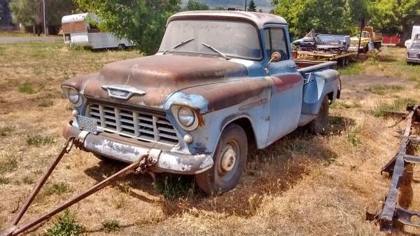 1955 Chevrolet 3200 half ton big back window long box ...