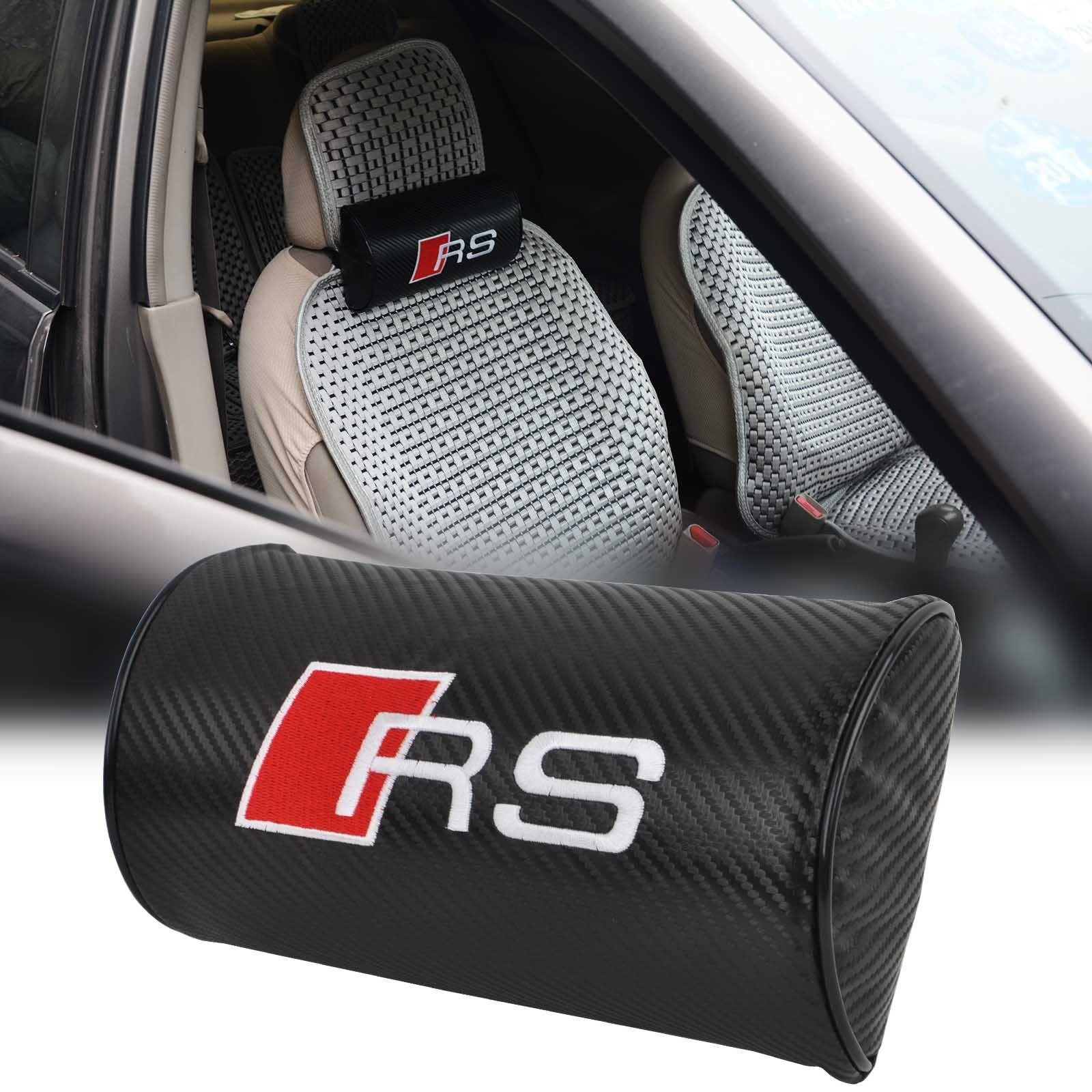 Pc RS Line Carbon Fiber Car Seat Neck Cushion Pillow Headrest For - Audi car seat