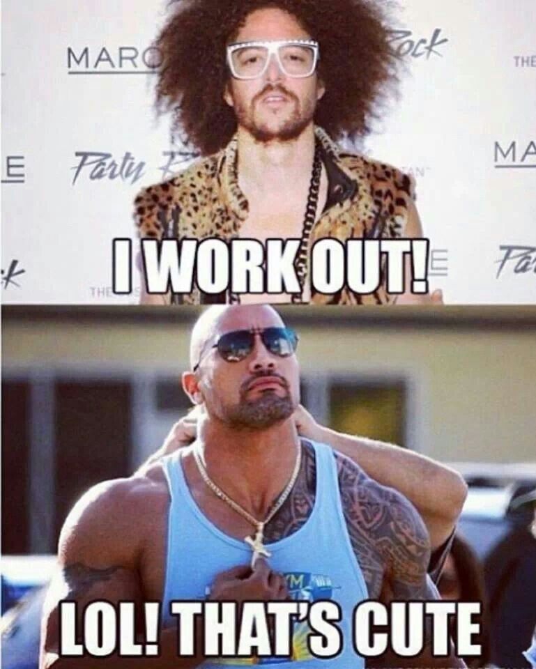 The rock workout motivation | Workout humor, The rock ...