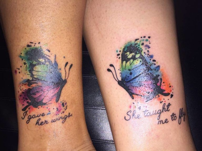 835b5c3b9 40 Amazing Mother Daughter Tattoos Ideas To Show Your Lovely Bonding ...