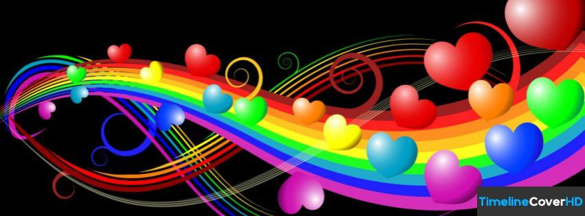 Rainbow Love Facebook Timeline Cover Hd Facebook Covers Timeline