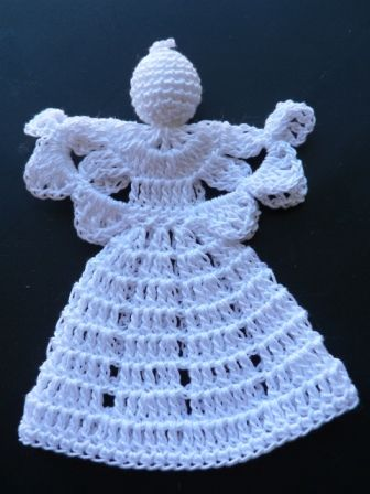 This crocheted angel is wonderful. I want to make it!! | Crochet ...