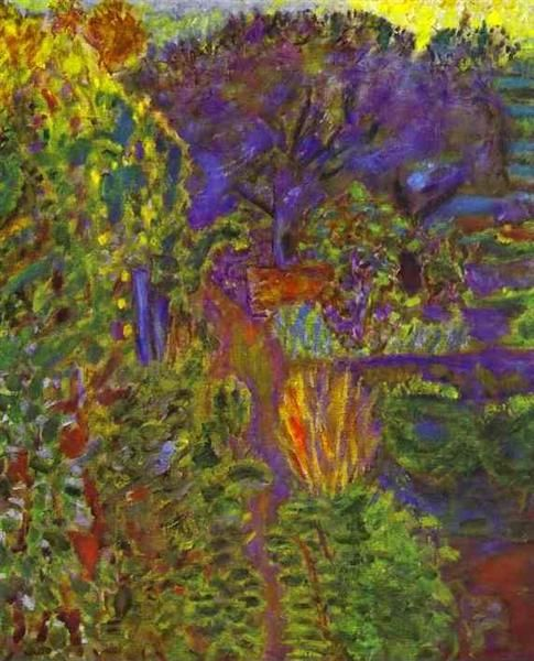 Garden at Midday, 1943 by Pierre Bonnard. Post-Impressionism. landscape. Private Collection