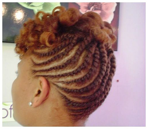 Fabulous 1000 Images About Natural Updos On Pinterest Black Women Short Hairstyles Gunalazisus