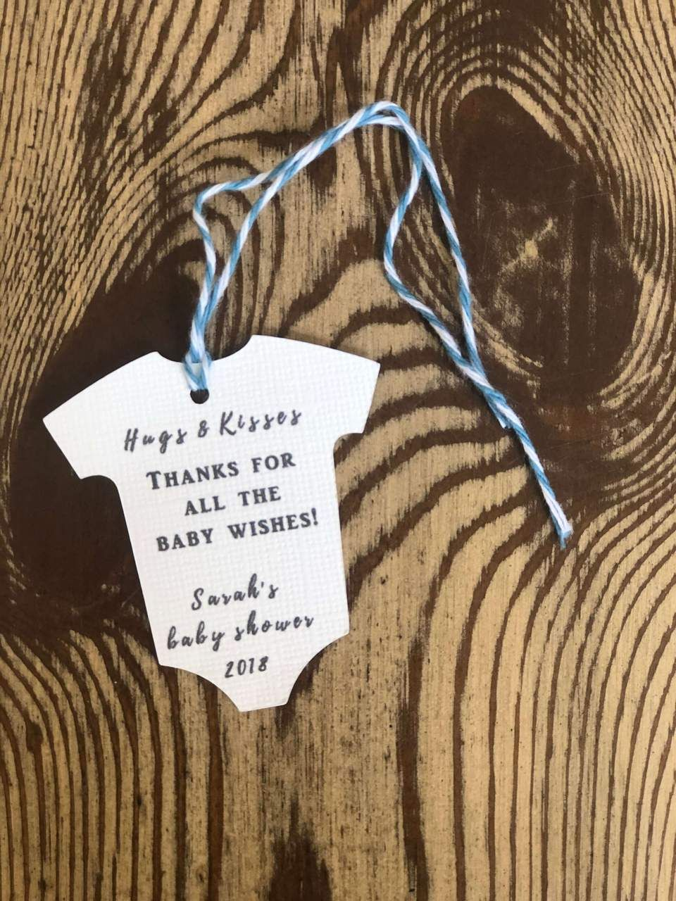 6f42eb46 Hugs & Kisses Thanks for All the Baby Wishes gift tag. Personalize and  order now!