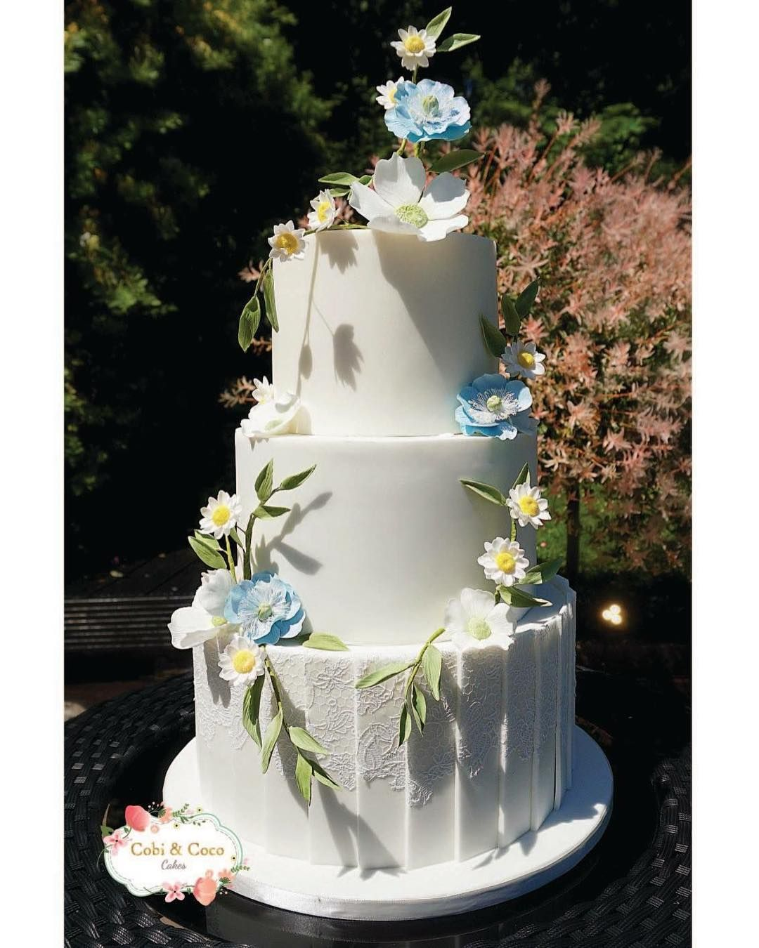 Sam Wedding Cake.A Pretty Wedding Cake For Sophie Sam Delicate Lace Panels And