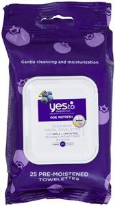 Yes to Blueberries Age Refresh Cleansing Facial Towelettes 25 ea (Pack of 3) Simple Sensitive Skin Experts Oil Balancing Cleansing Wipes 25 ea