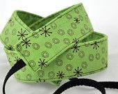 green nikon camera strap