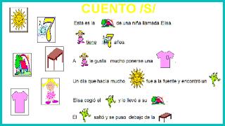 Cuento y tarjetas para uso y generalización del fonema /s/