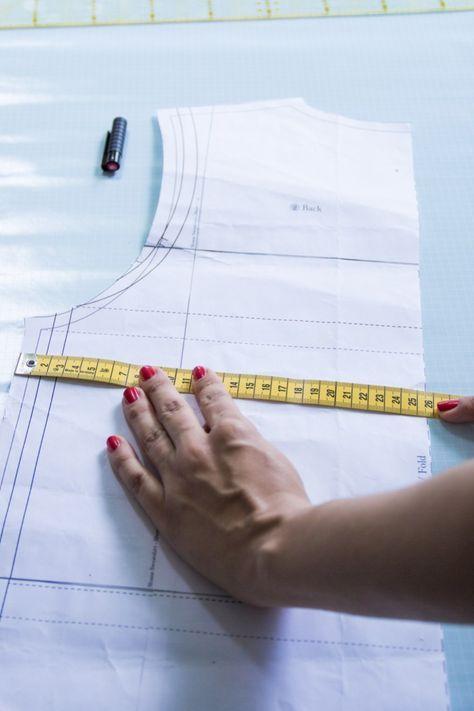 Comprendre le motif: vérifiez vos propres mesures sur le motif   – selbstgemachtes Kleidung