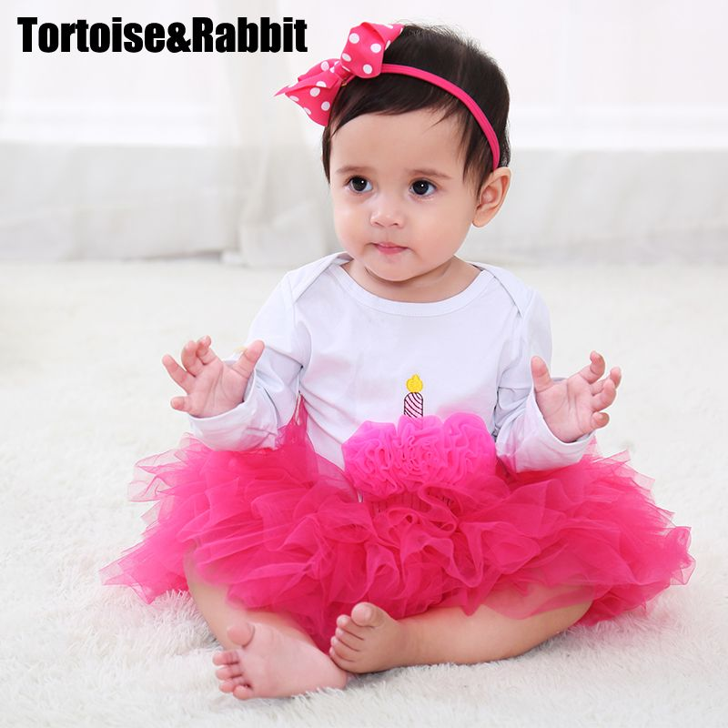 9372b24cec61 3Pcs Baby Girl Set With Headbands Fashion Newborn Lace Tutu Skirt Organic  Cotton Cartoon Bodysuits Infant