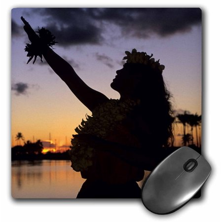 Hula, Oahu, Hawaii - US12 MDE0016 - Michael DeFreitas Mouse Pad 8 inch x 8 inch x .25 inch and is made of heavy-duty recycled rubber.  Matte finish image will not fade or peel.  Machine washable using a mild detergent and air dry. Size: 8 in.