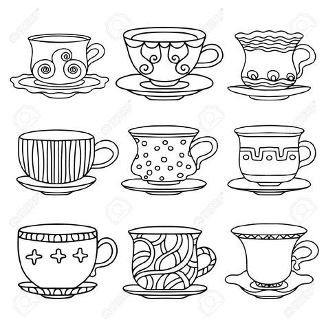 tazas de te vintage - Buscar con Google | dibujos | Pinterest ...