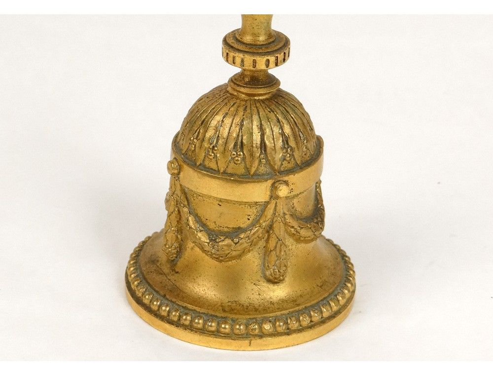 Antique Bell Collections | ... > Bell table bell crown french antique gilt bronze bell nineteenth