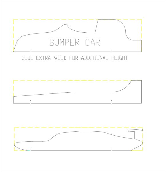 Pinewood derby car templates pdf invitation templates for Free templates for pinewood derby cars