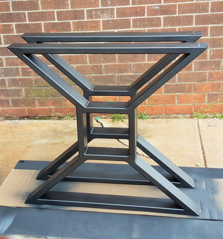 Custom order for Barry Yarbrough Modern Dining Table X Legs  mesas  Metal dining table Metal leg dining table y Metal table legs