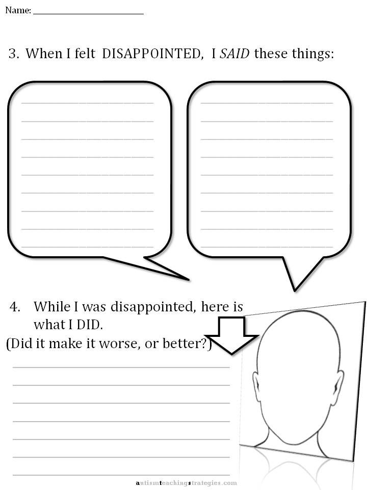 Cbt Disappointment Worksheet 3