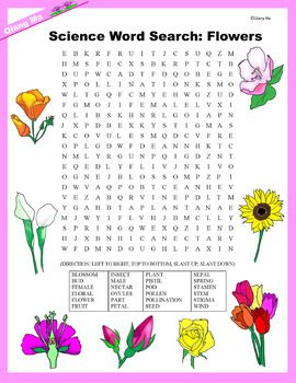 Teaching Science X2f Plant X2f Flowers Through Fun Activities Students Will Have A Great Time Searching For Science Word Search Science Words Plant Science