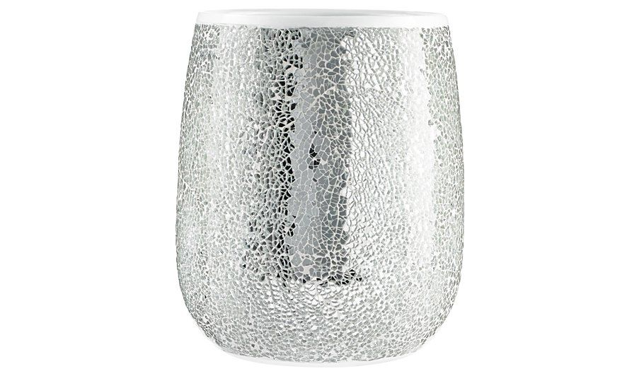 silver sparkle bathroom accessories. Bathroom Accessories  Home Garden George At ASDA Buy Cracked Silver Glass Bin From Our