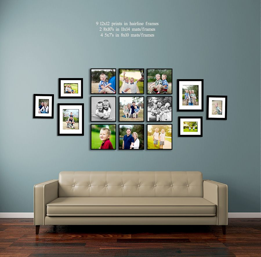 Fun Ways To Display Photos Of Your Family Living Room Wall Over Sofa  Collage Picture Part 43