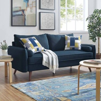 Revive Upholstered Fabric Sofa Azure  Modway is part of Sofa - Find product information, ratings and reviews for Revive Upholstered Fabric Sofa Azure  Modway online on Target com