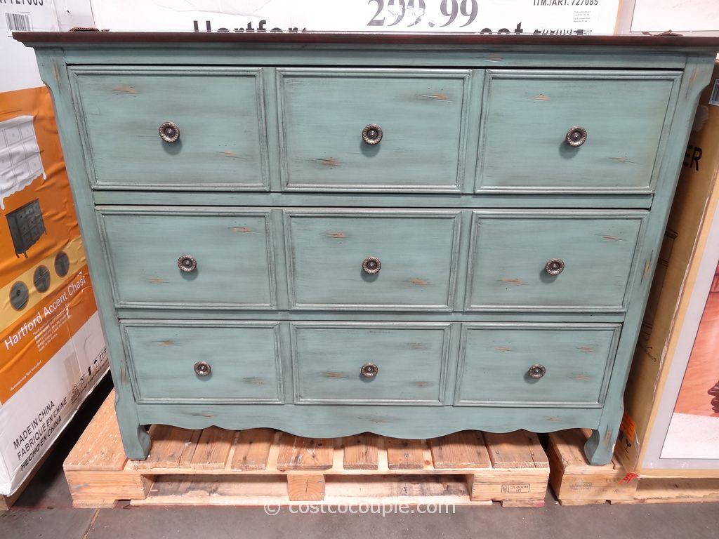 drawer accent chest green dresser