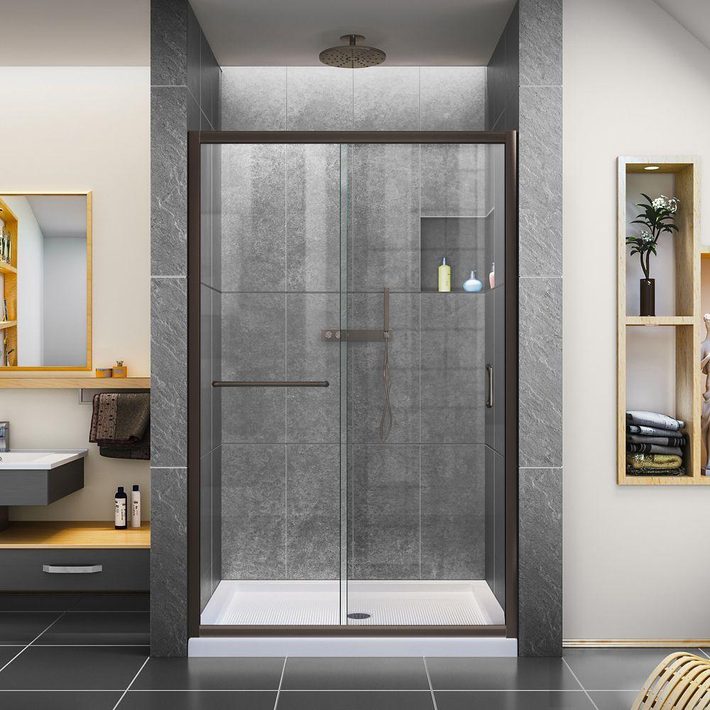 Infinity Z 44 48 Inch W X 72 Inch H Semi Frameless Sliding Shower