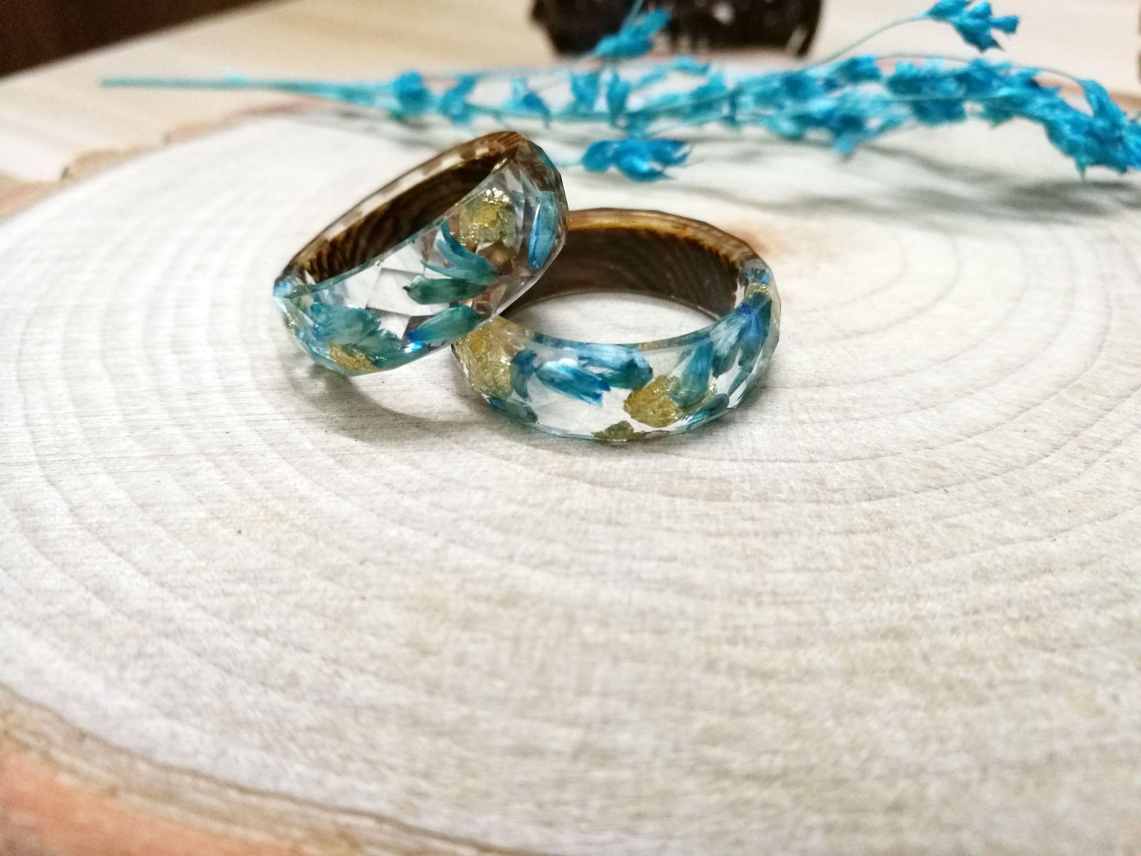 Real Flower Resin Rings Pressed Flower Resin Ring Smartyleowl Resin Art Resin Jewelry Resin Diorama Flower Resin Jewelry Inspiration Resin Ring