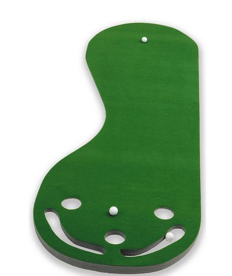 Par 3 Hole Putting Green Practice Golf Game Non Skid Nine Feet Hours Of Fun New