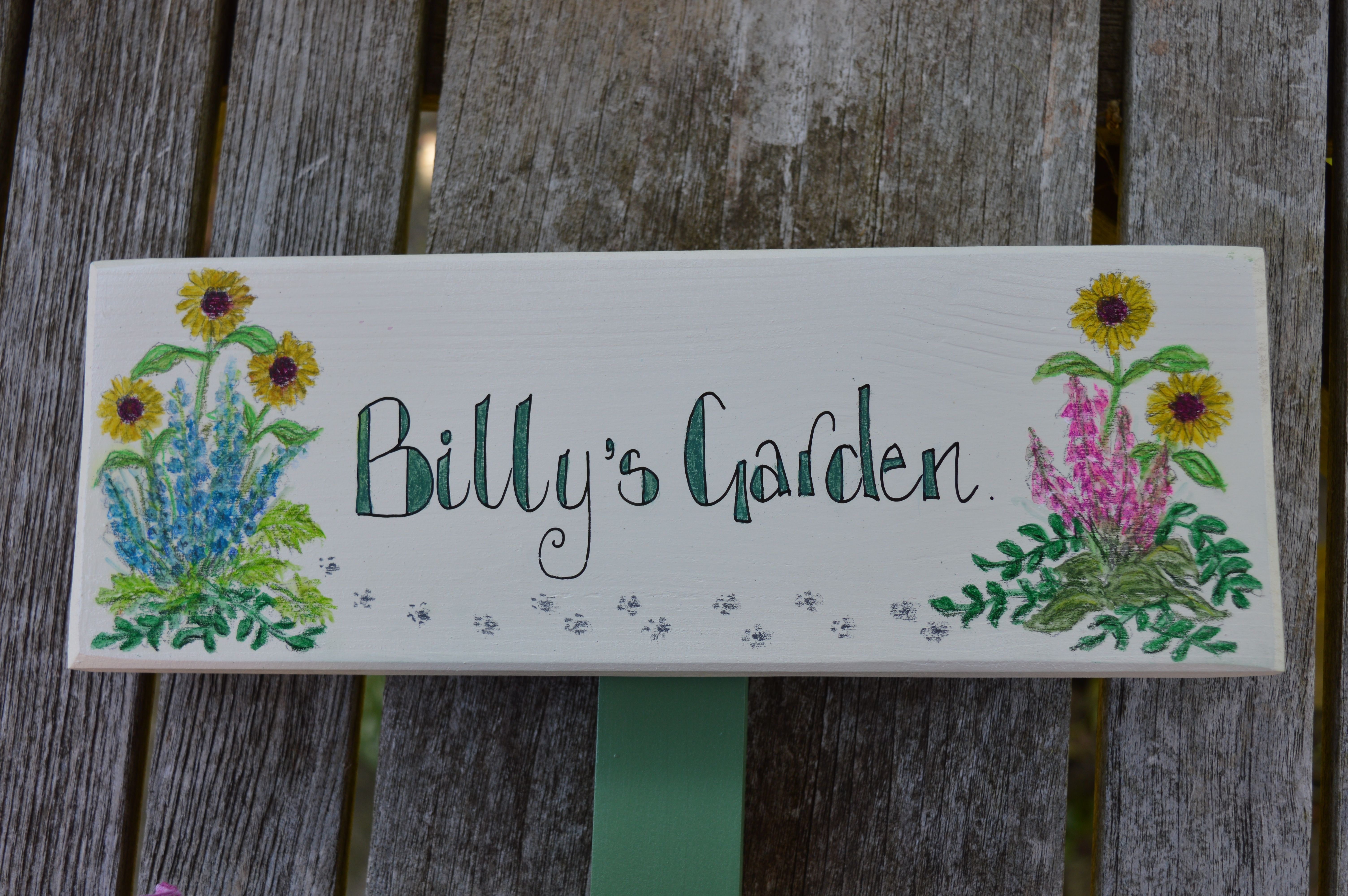 Sun Flower Garden Sign By Okey Dokey Wood Co Uk Personalized Pet Memorial Wooden Gifts