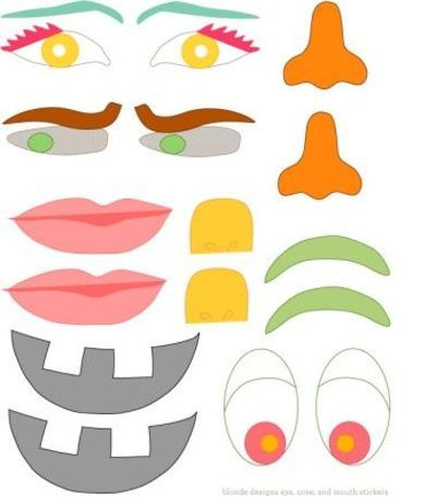 Impertinent image within free printable eyes nose mouth