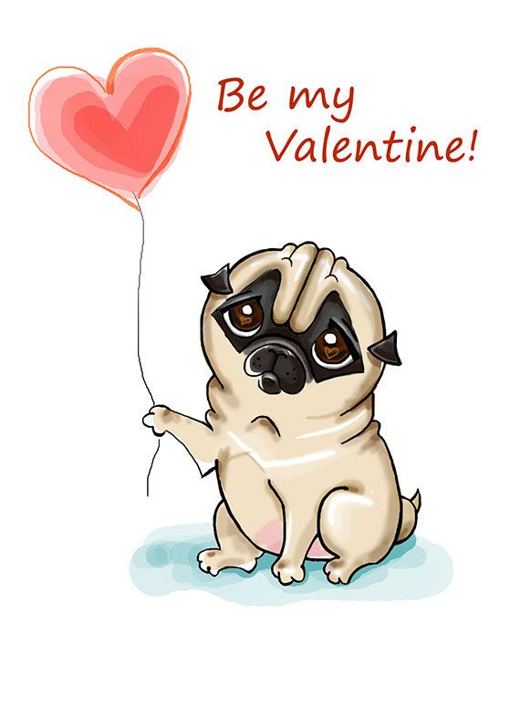 Hey, I found this really awesome Etsy listing at https://www.etsy.com/listing/217627110/pug-with-heart-valentines-day-card