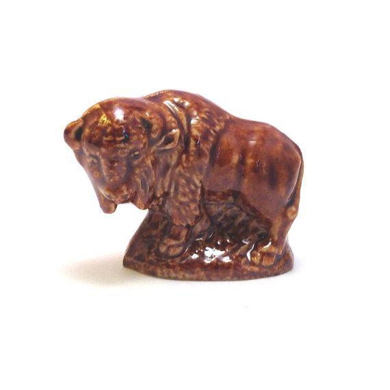 Wade Whimsie: Bison Figurine  1984/85 by JanetsVintageStore