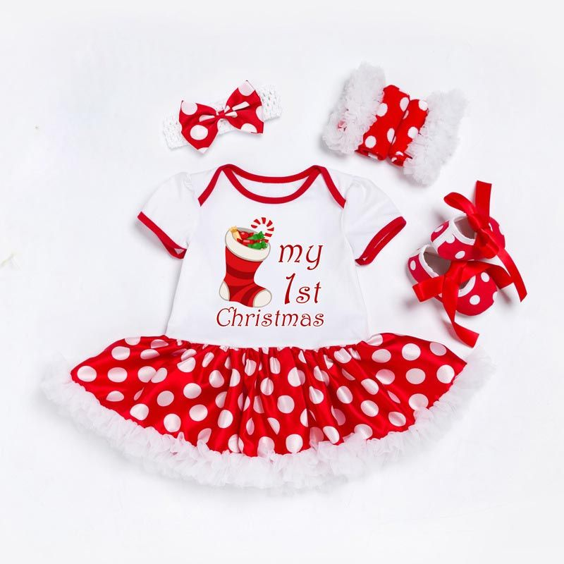 My First Christmas Newborn Clothes Set Baby Girls Dress Price