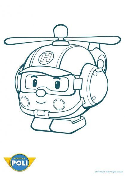 Coloriage Gratuit Robocar Poli.Coloriage Robocar Poli Heli 1 Diy And Crafts Dibujos Para