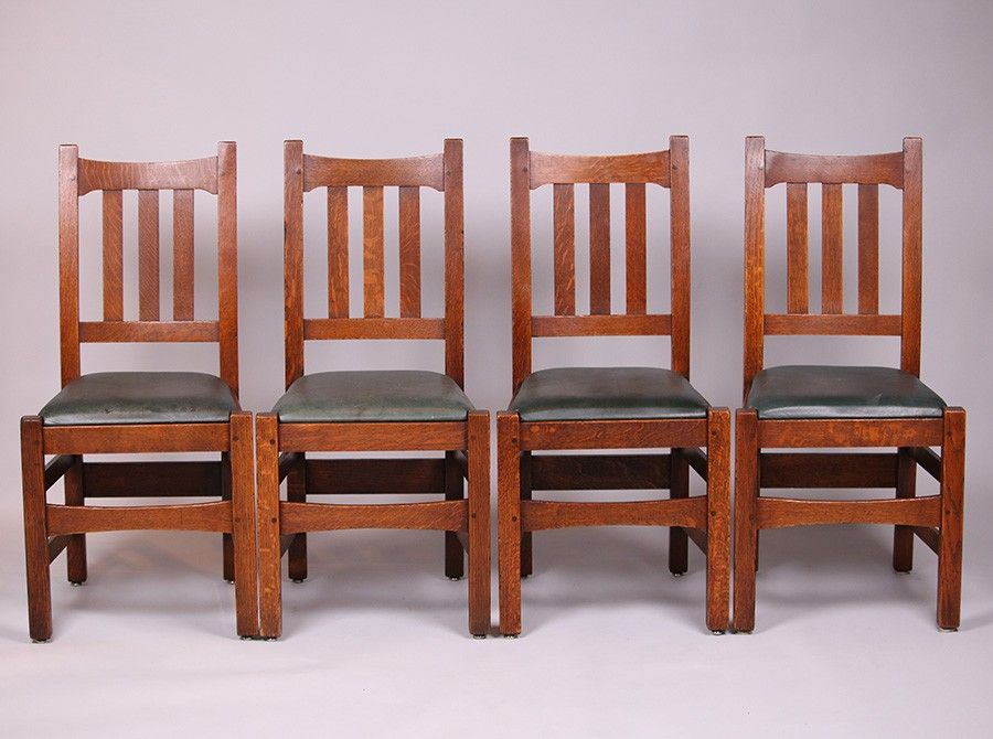 4 Stickley Brothers 379 1 2 Dining Chairs Dining Chairs Chair Craftsman Style Furniture