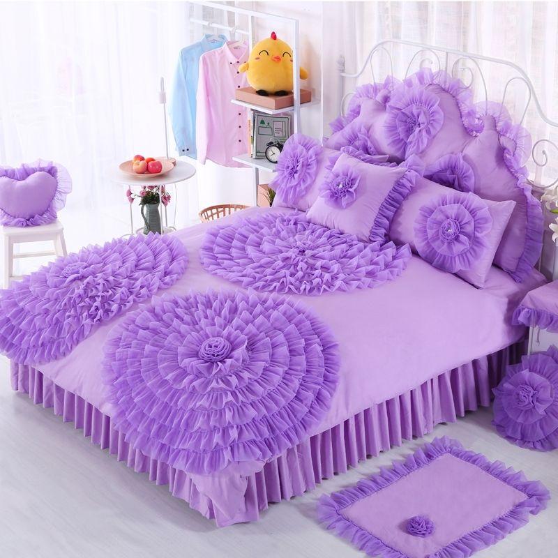 Violet Princess Style Victorian Lace Design Ruffled Design Elegant