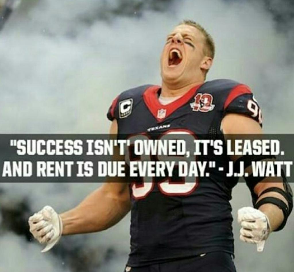 [Image] NFL defensive end JJ Watt reminding us all the