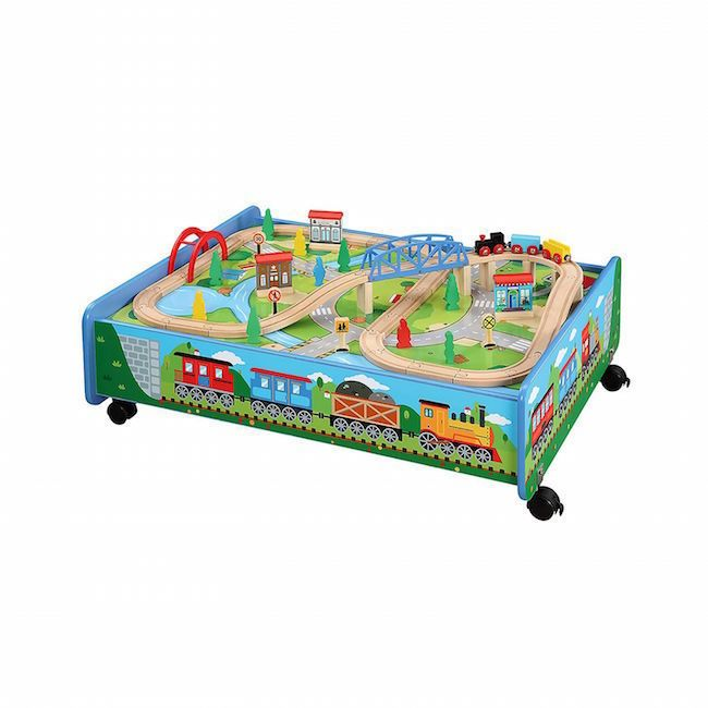 train set table wooden track wheels can use all major brands little rh pinterest ca